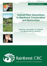 Animal-plant interactions in tropical restoration - Greening Australia