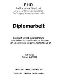 Diplomarbeit - Fachhochschule Düsseldorf