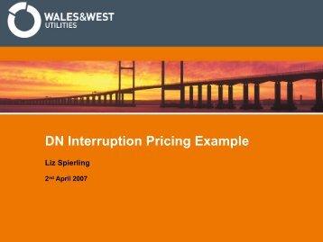 WWU Pricing example 2Apr07