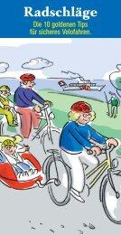 Radschläge - Fonds für Verkehrssicherheit FVS