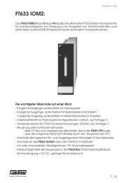 FT633 IOM2: - Funktronic