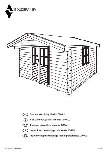 montageanleitung f r gartenhaus spree bauplan gartenhaus park. Black Bedroom Furniture Sets. Home Design Ideas