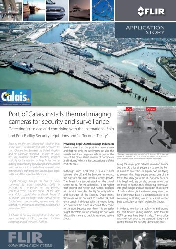 Port of Calais installs thermal imaging cameras for security and ...