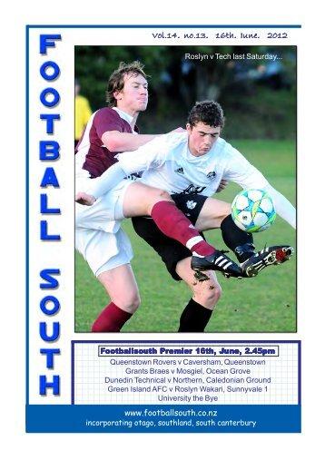 Vol.14, no.13, 16th, June, 2012 - Football South
