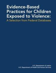 Evidence-Based Practices for Children Exposed ... - Safe Start Center