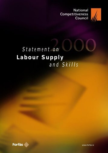 Statement on Labour Supply and Skills - Forfás