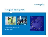 27 March 2013 EU Developments (provided by National Grid NTS)