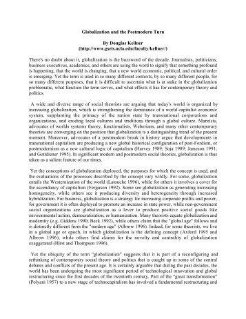 theorizing globalization doughlas kellner