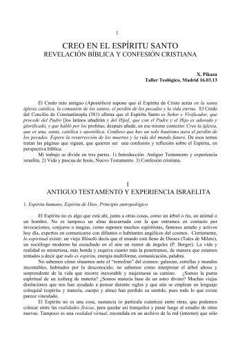 CREO EN EL ESPÍRITU SANTO - Fundación Federico Fliedner