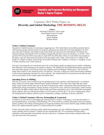 Capstone 2012 White Paper on Diversity and Global Marketing: THE ...
