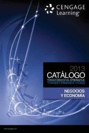 Catalogo Cengage Negocios y Economia 2013