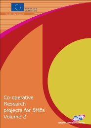 Co-operative Research projects for SMEs Volume 2 - European ...