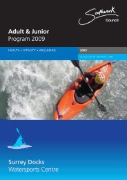 Adult & Junior Program 2009 Surrey Docks ... - Fusion Lifestyle