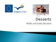 Basiswissen zu Desserts