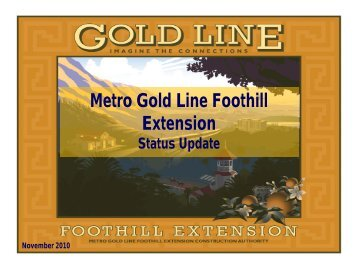 Phase 2B - Metro Gold Line Foothill Extension