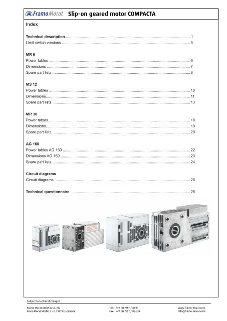 Slip-on geared motor COMPACTA - Framo Morat