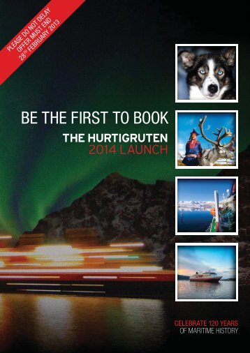 BE THE FIRST TO BOOK 2014 Launch