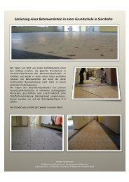 Sanierung eines Betonwerkstein in einer Grundschule in Siershahn