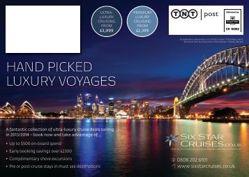 HAND PICKED LUXURY VOYAGES