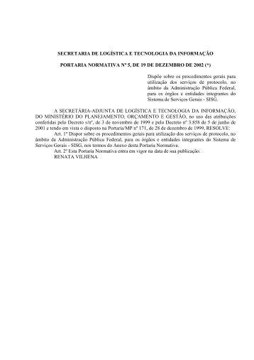 Portaria Normativa 5-2002.pdf - Fortium.edu.br