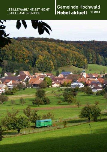 Gemeinde Hochwald Hobel aktuell 1 | 2013 - firma-web