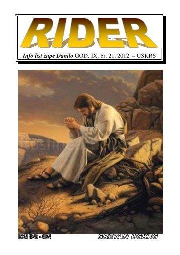 Info list župe Danilo GOD. IX. br. 21. 2012. – USKRS
