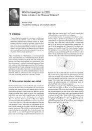 Wat te bewijzen is (30) - Freudenthal Instituut - Universiteit Utrecht