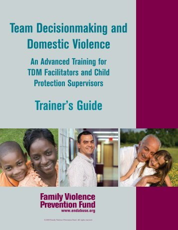 Team Decisionmaking and Domestic Violence Trainer's Guide
