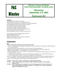 Workshop September 3-4, 2003 Richmond, BC - Ministry of Forests