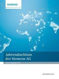 Jahresabschluss der Siemens AG zum 30. September 2011