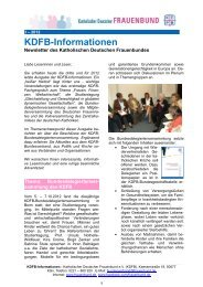 KDFB-Informationen 3 - 2012 - Katholischer Deutscher Frauenbund