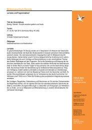 Geplanter Programmablauf Bildungsurlaub Danzig 2013/2014 ...