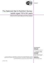 The National Diet & Nutrition Survey - Food Standards Agency