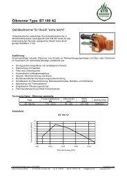 Ölbrenner Type: BT 180 A2 - Garvens