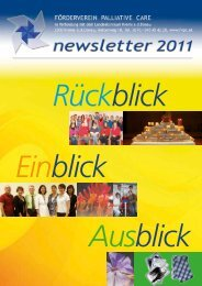 newsletter 2011 - Förderverein Palliative Care