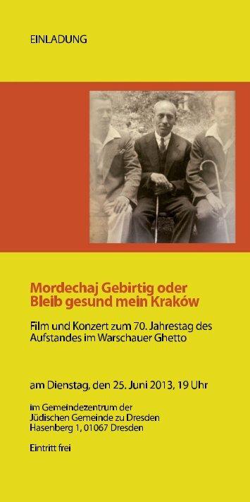 HIER - Freundeskreis Dresdner Synagoge