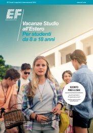 Vacanze Studio all'Estero Per studenti da 8 a 18 anni