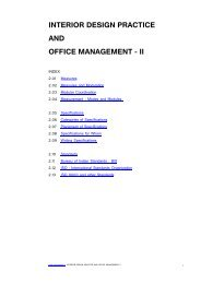 INTERIOR DESIGN PRACTICE AND OFFICE MANAGEMENT - II