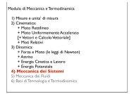 Modulo di Meccanica e Termodinamica 1) Misure e unita' di ... - Fisica
