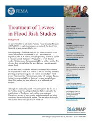 Treatment of Levees in Flood Risk Studies