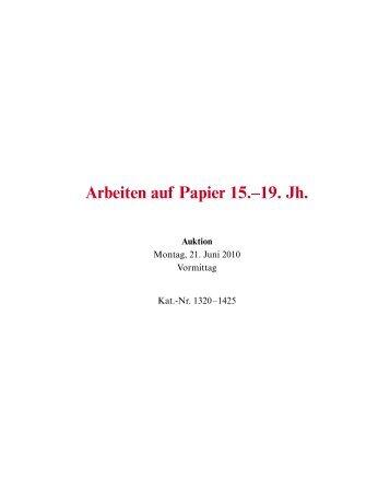 Arbeiten auf Papier 15.?19. Jh. - Galerie Fischer Auktionen AG