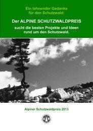 Der ALPINE SCHUTZWALDPREIS - ARGE Alpenländische ...