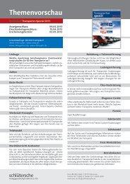 Themenvorschau Sonderheft Transporter-Spezial 2013 - amz