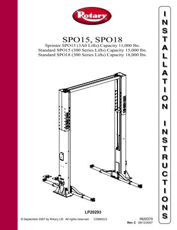 Rotary lift installation instructions images writing instructions rotary sm18 installation manualpdf atlantic auto asfbconference2016 Images