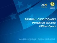 FOOTBALL CONDITIONING Periodising Training 6 Week Cycles