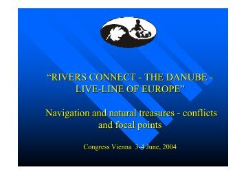 """RIVERS CONNECT - THE DANUBE - LIVE-LINE OF EUROPE ..."