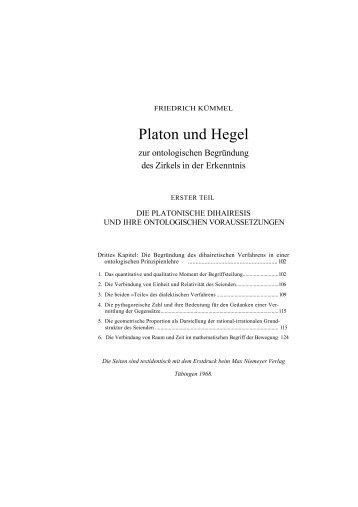 Platon und Hegel - Friedrich Kümmel