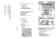 Programm Fritz-Bauer-Symposium - Forum Justizgeschichte eV