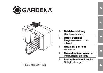 OM, Gardena, Programador de riego, Art 01830-20, 2011-03