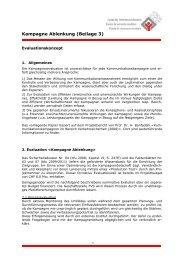 Evaluationskonzept - Fonds für Verkehrssicherheit FVS